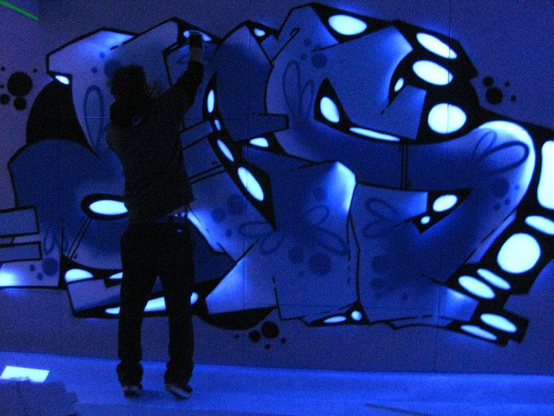 UV Graffiti Auftrag Sportland Flensburg Bowling Center