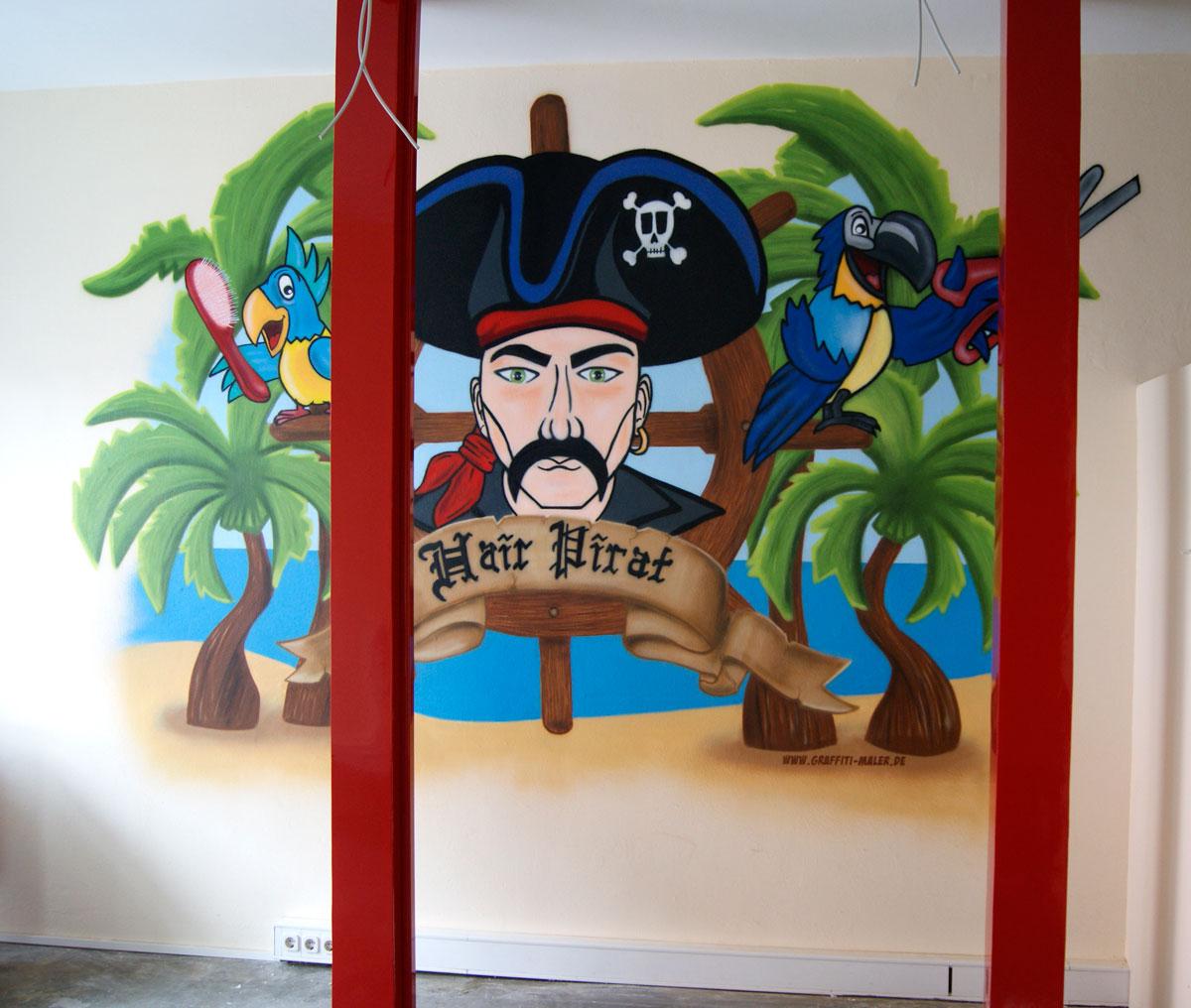 Graffiti Auftrag Hair-Pirat Flensburg