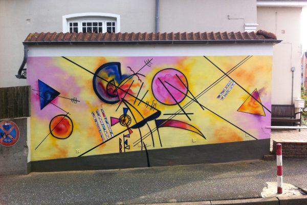 Graffiti Auftrag Garage Kandinsky Husum