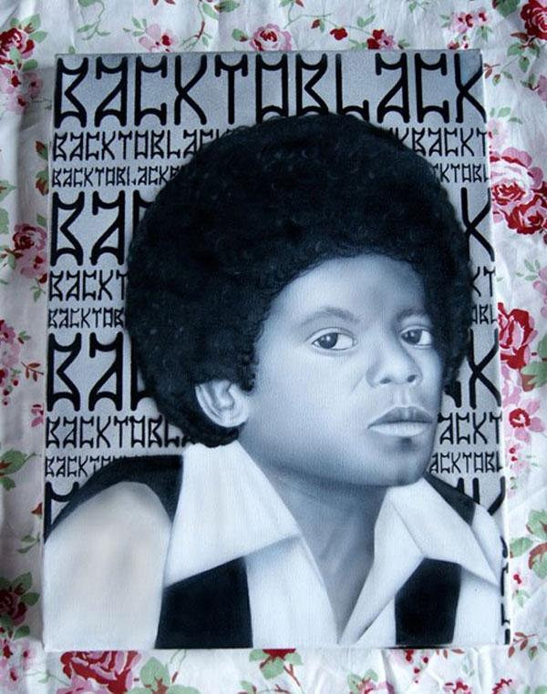 Airbrush - Leinwand Michael Jackson
