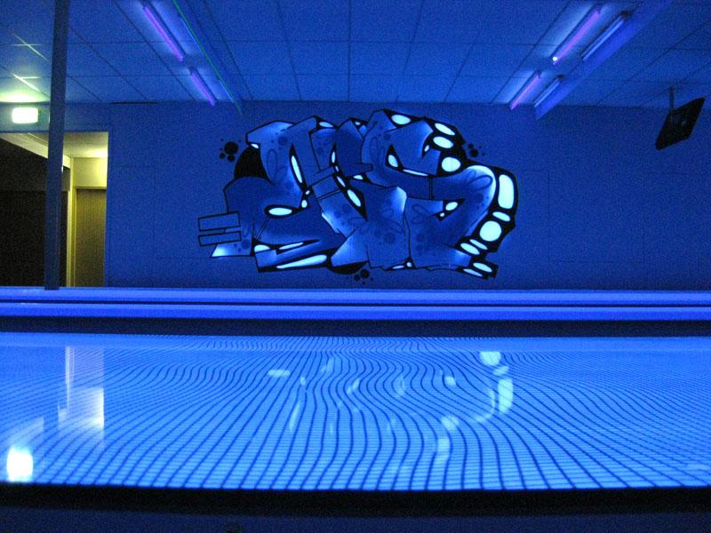 Graffiti Auftrag Sportland Flensburg Bowling Center