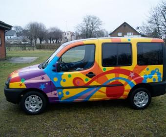 Graffiti – Hippie Auto 70er Style