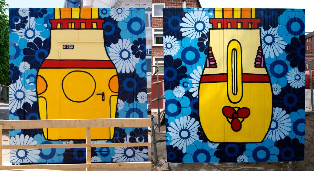 Graffiti Auftrag für das Krankenhaus Diako in Flensburg