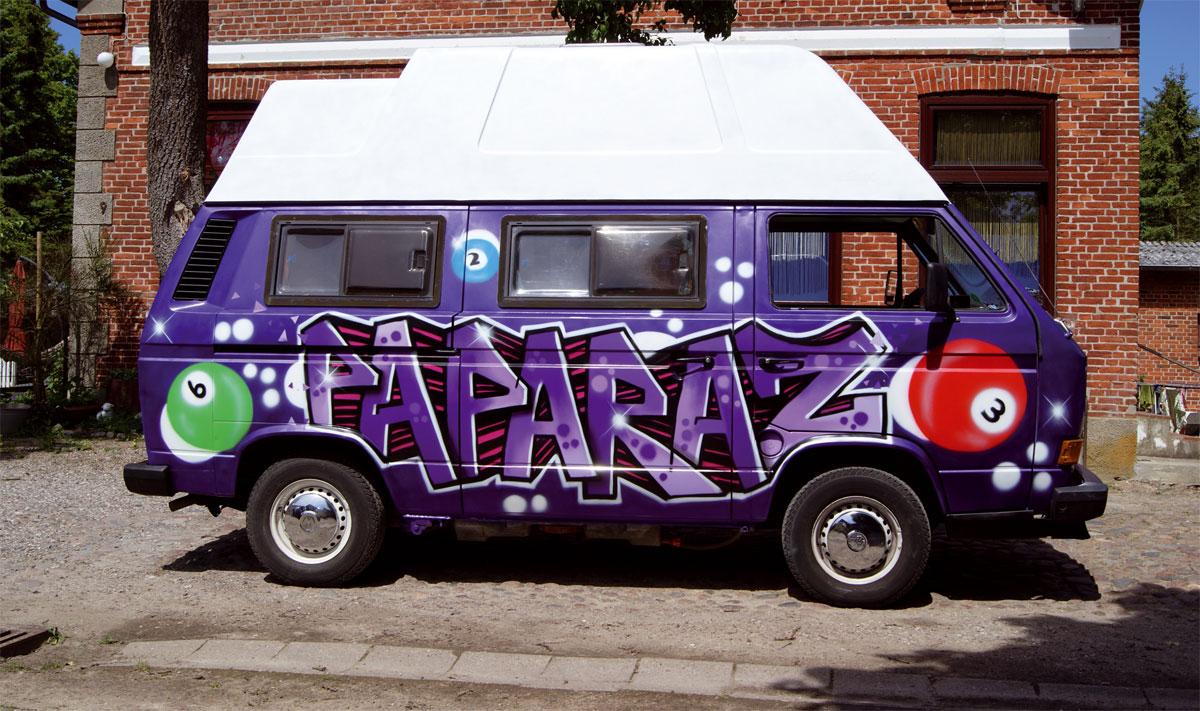 "VW Bus Graffiti ""Paparaz"" Kappeln Schlei"