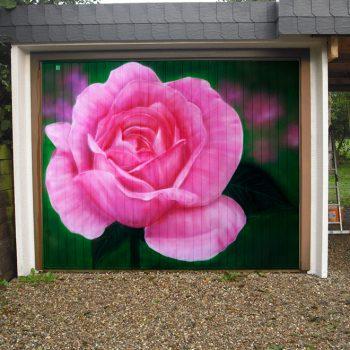 Graffiti Auftrag Eckernförde - Garage Rose
