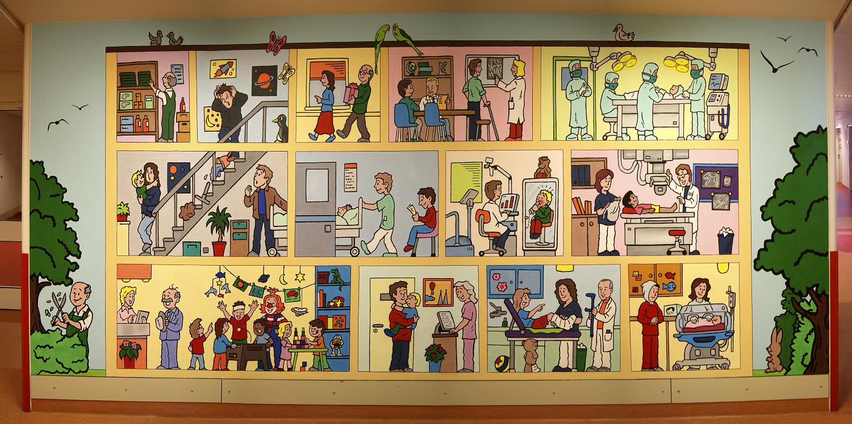 Beispiel Innenraumgestaltung - Kinderkrankenhaus Flur