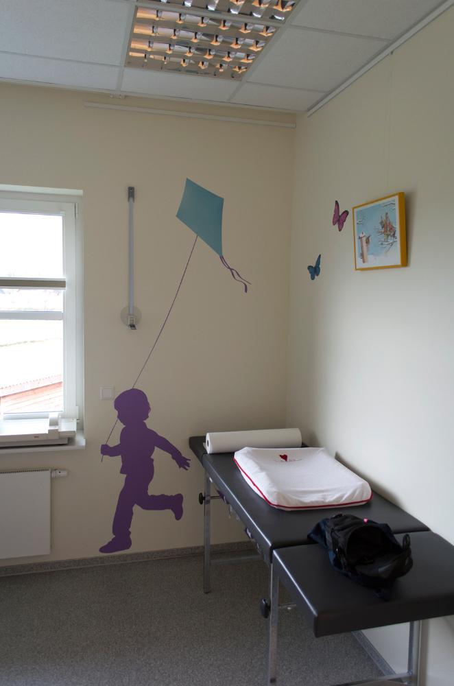 Wandgestaltung. Arzt Praxis. Wandbild