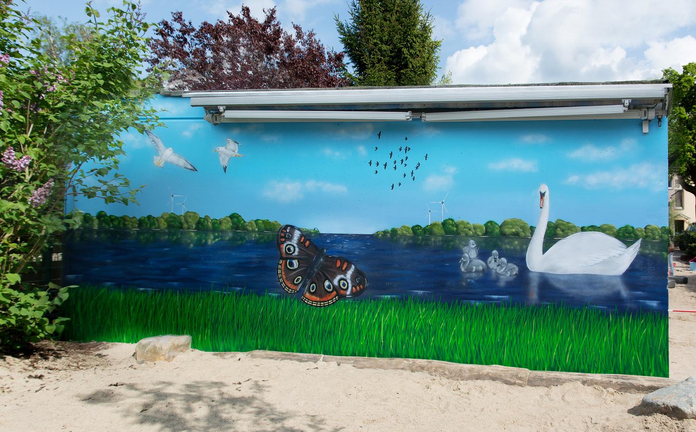 Graffiti - Wandgestaltung - Kindergarten