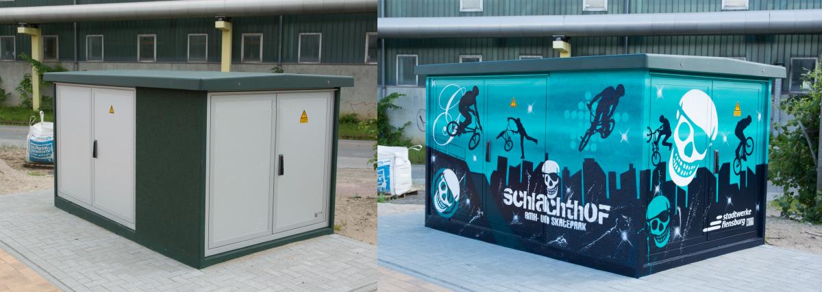 Stromkasten Gestaltung von Graffiti Künstler