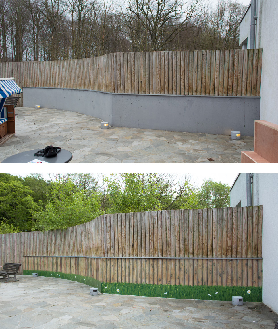Wandgestaltung - Illusionsmalerei - Graffiti Künstler - Sauna