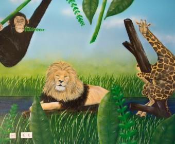 wandgestaltung_graffiti_jungle_loewe_giraffe_affe_wandbild