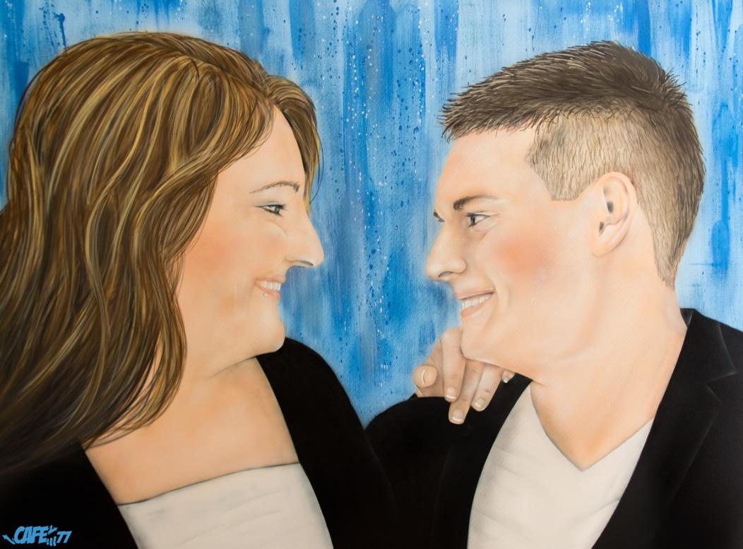 Graffiti Portrait - Hochzeits Paar