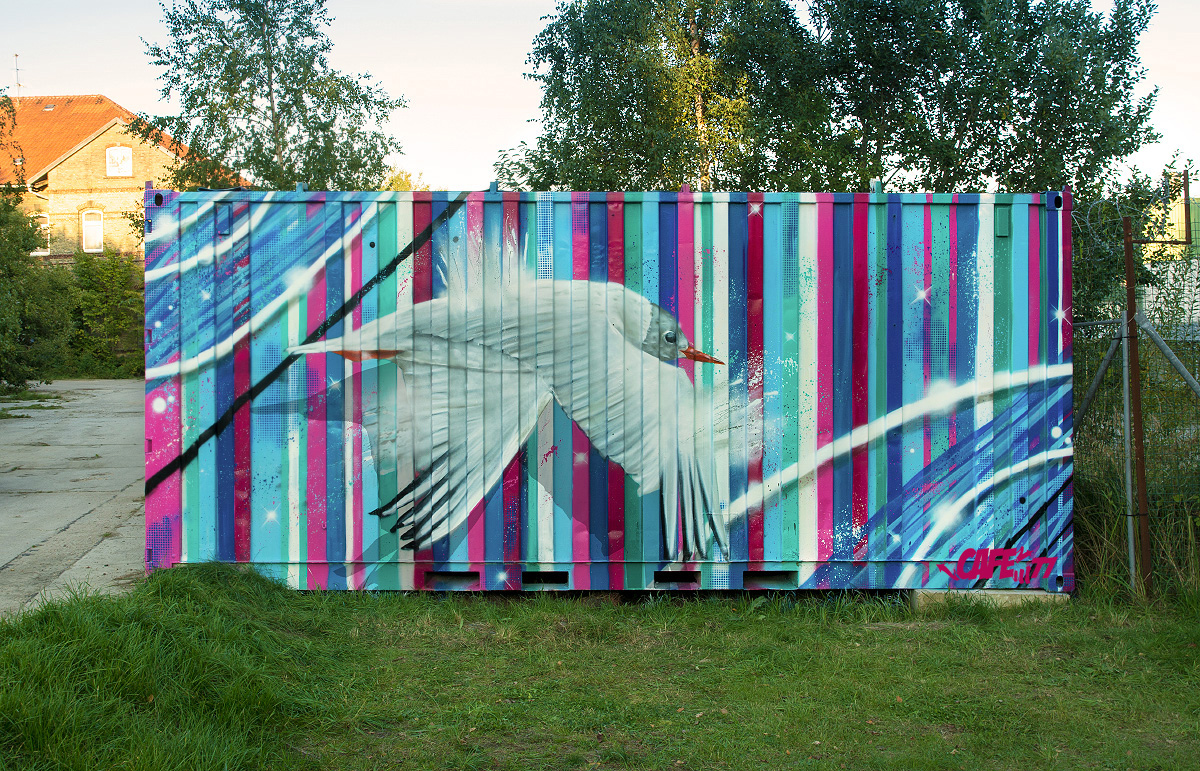 Container Graffiti – Möwe