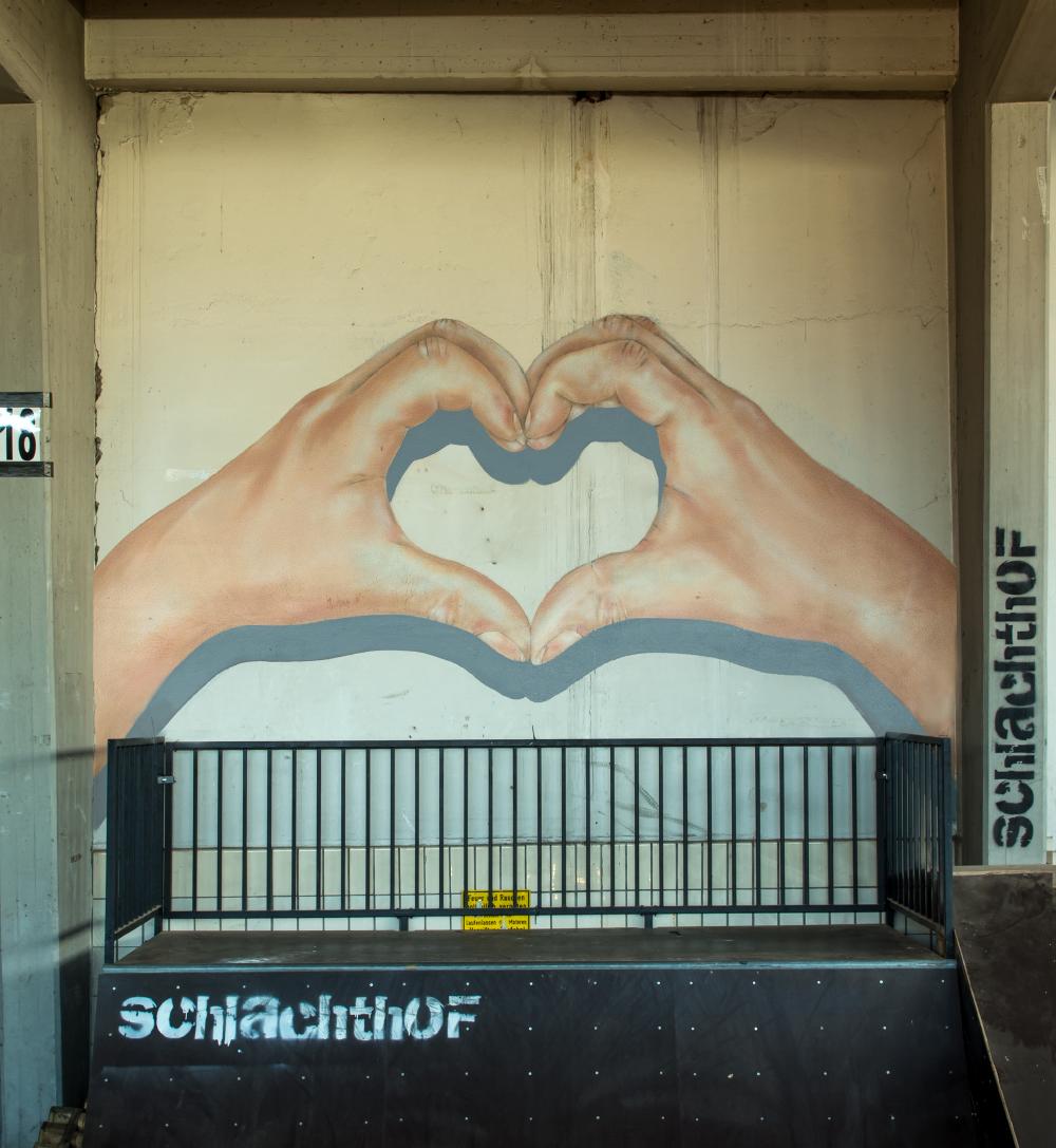 Graffiti Fassadengestaltung Herz
