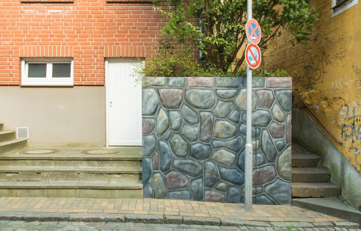 Illusionsmalerei Graffiti Steinmauer