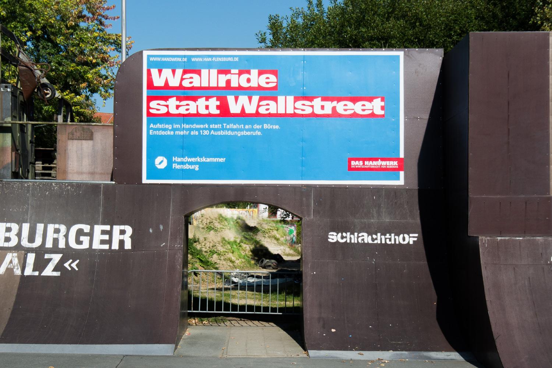 Graffiti Werbung für Handwerkskammer Flensburg