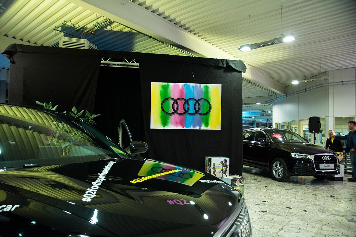 Graffiti Leinwände Audi Graffiti