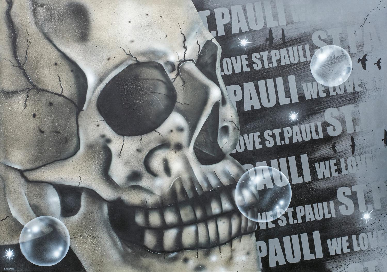 Graffiti Leinwand für St.Pauli Fan