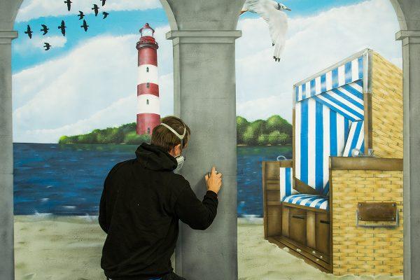 Graffiti Strandbild