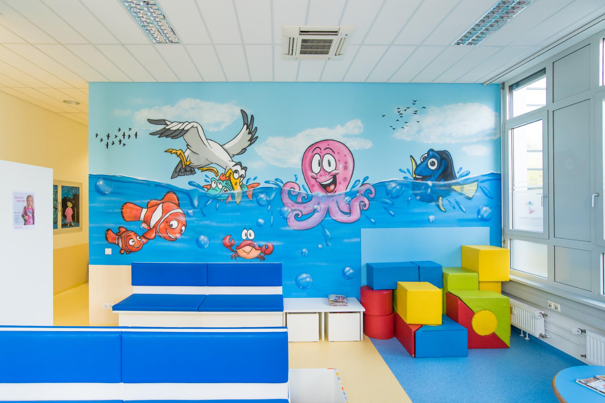 Graffiti Kinderarzt Praxis Hamburg