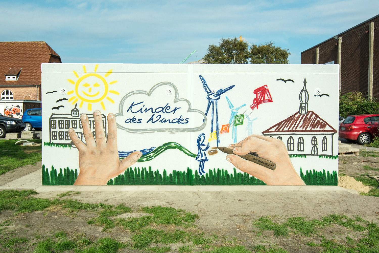 Graffiti Windkraft- Fassadengestaltung