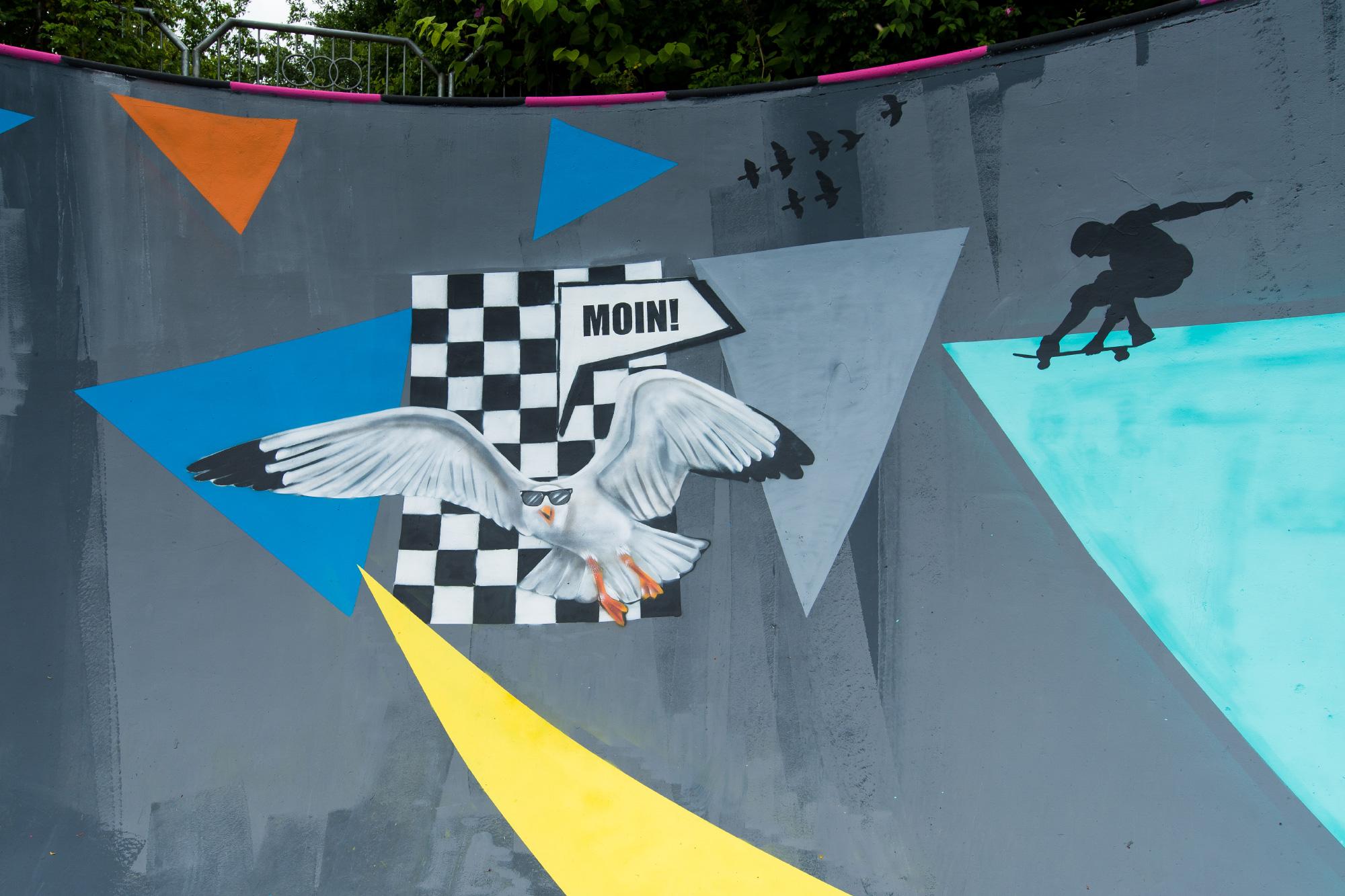 Skatepark Poolgestaltung – Graffiti im Pool