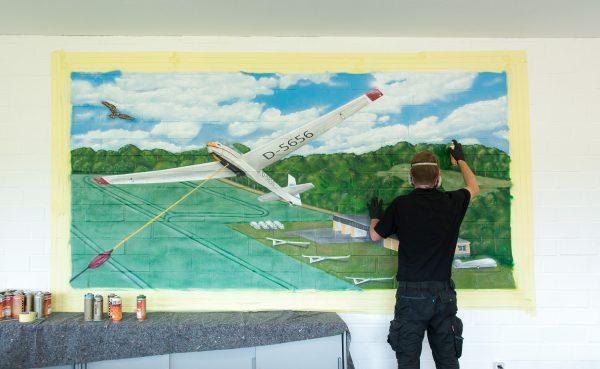 Graffiti Segelflugschule Aukrug – Neumünster