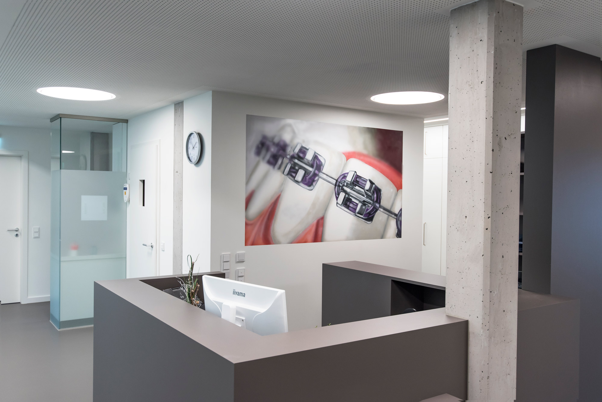Wandgestaltung Zahnarzt Hamburg