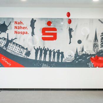 Graffiti Wandgestaltung in Schleswig