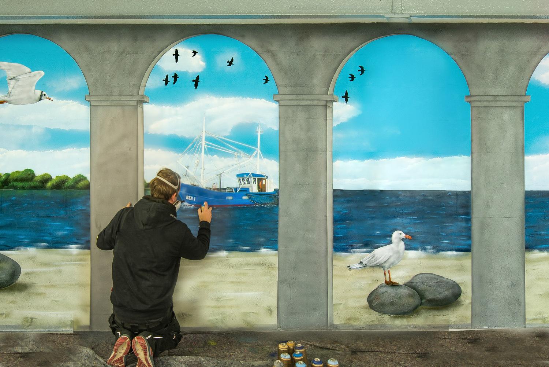 Illuisionsmalerei mit Graffiti