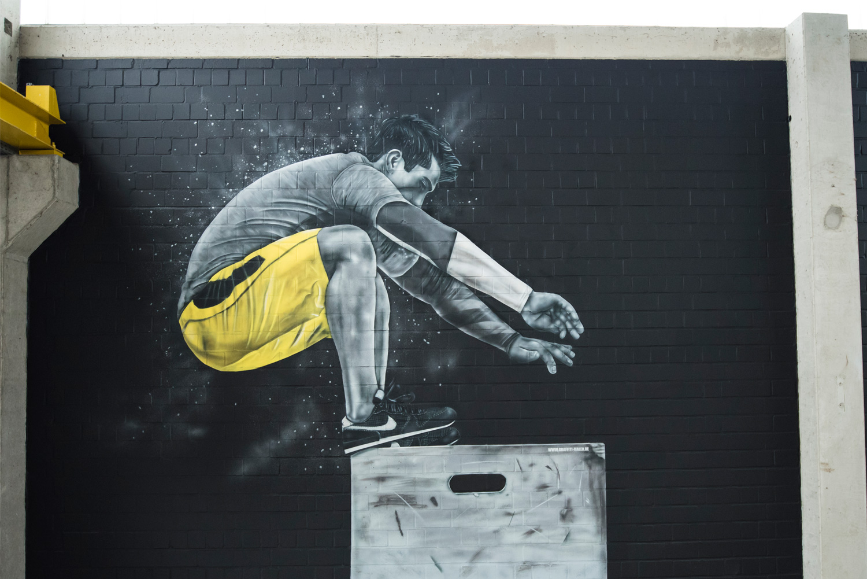 Grafffiti im Fitness Studio - Clever Fit Rendsburg