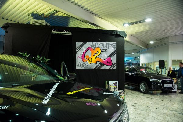Graffiti für Event / Premiere des Audi Q2