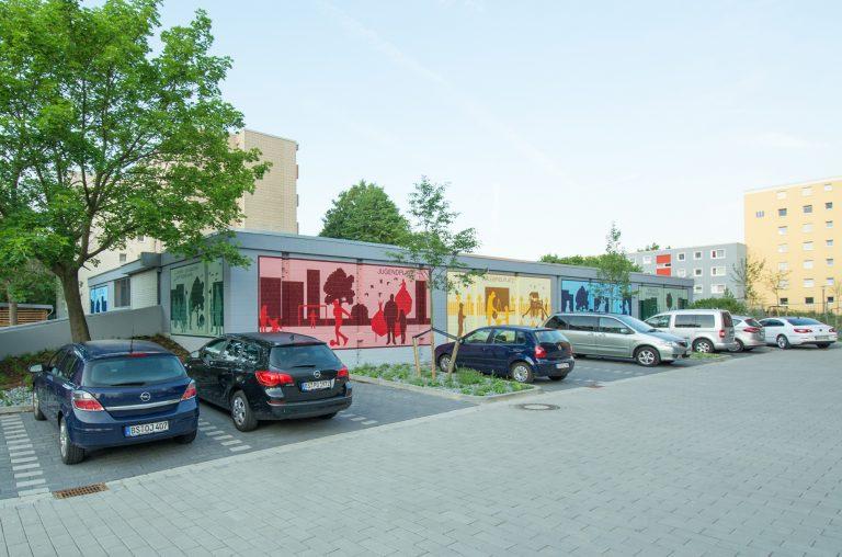 Kunst am Bau Graffiti Fassadengestaltung für die Stadt Braunschweig