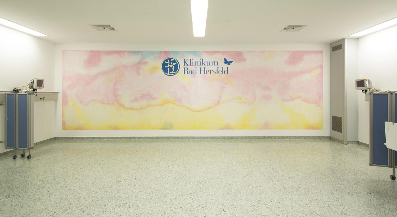 Graffiti Wandbild im Krankenhaus Bad Hersfeld