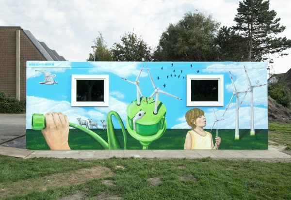 Fassadenkunst – Wandgestaltung für Kinder des Windes e.V.
