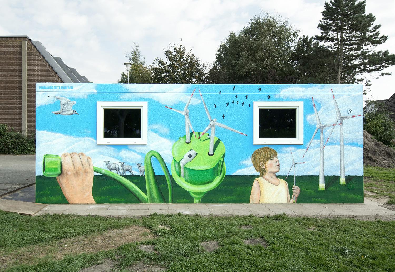Fassadenkunst - Wandgestaltung für Kinder des Windes e.V.