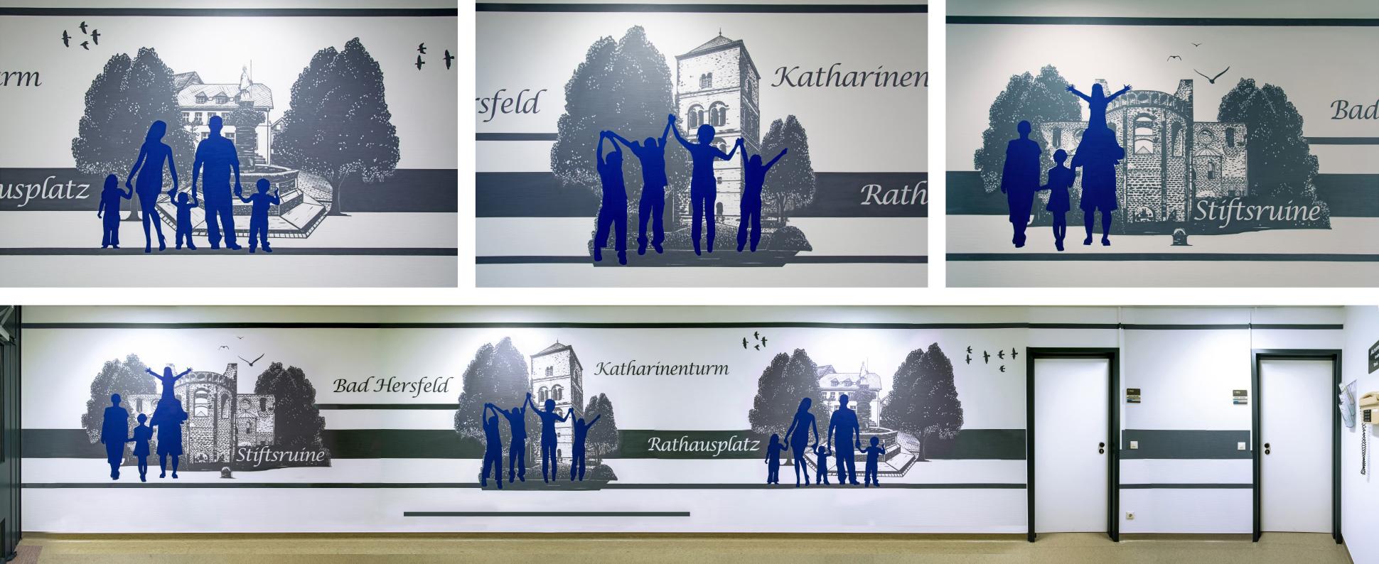 Graffiti Wandmalerei im Klinikum Bad Hersfeld