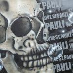 Graffiti Leinwand St. Pauli Hamburg