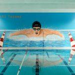 Graffiti Wandbild für Schwimmbad