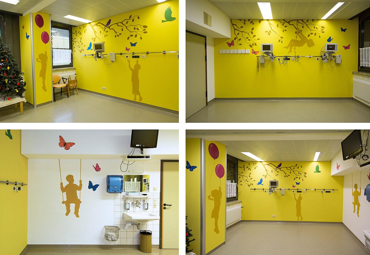 Graffiti im Kinderkrankenhaus Bad Hersfeld