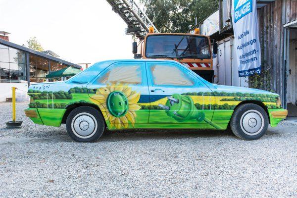 Graffiti auf Auto als Event Highlight