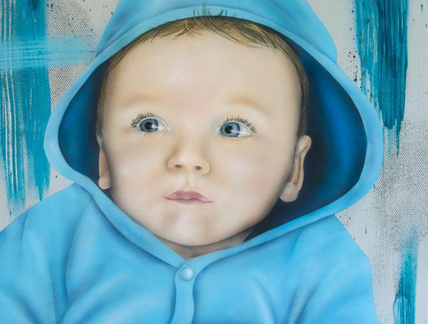 Graffiti Baby Portrait Leinwand