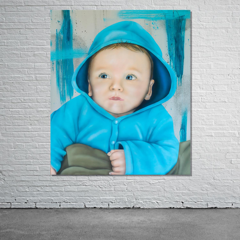graffiti baby portrait leinwand oder andere bilder als geschenk. Black Bedroom Furniture Sets. Home Design Ideas