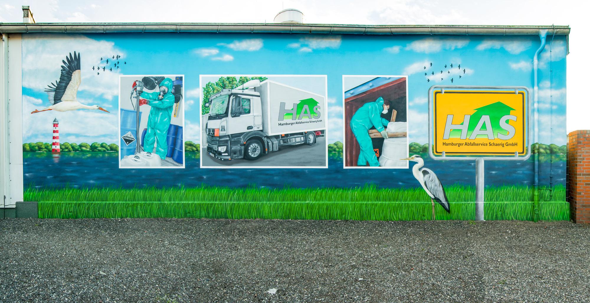 Graffiti Sprüher Hausfassade - Fassadengestaltung Hamburg