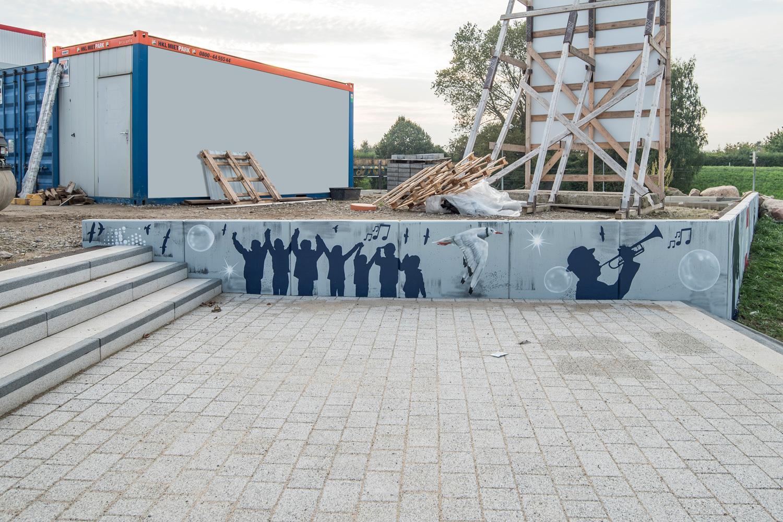 Graffiti für Stadthalle / NordostArena Rostock
