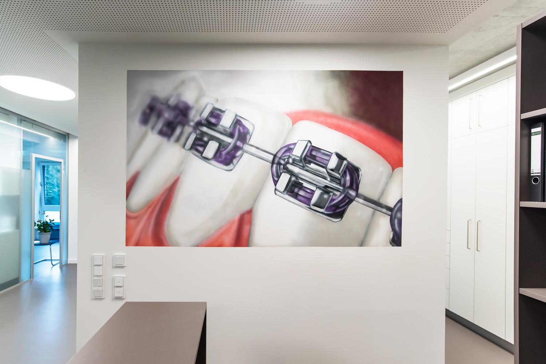 Graffiti für Zahnarzt Praxis in Hamburg