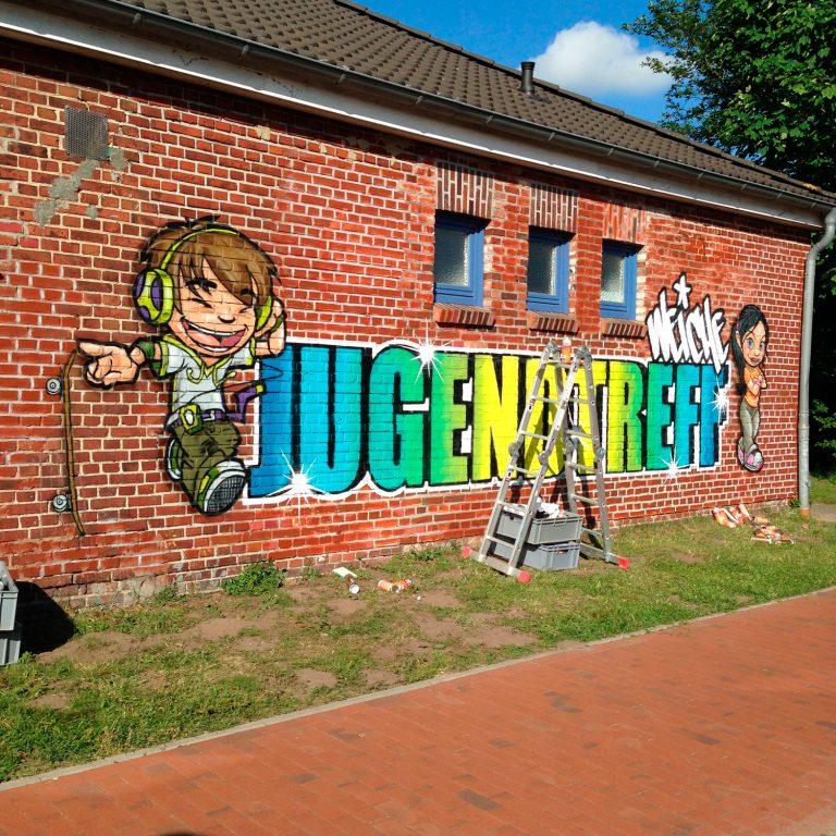 Graffiti für Jugendzentrum in Weiche