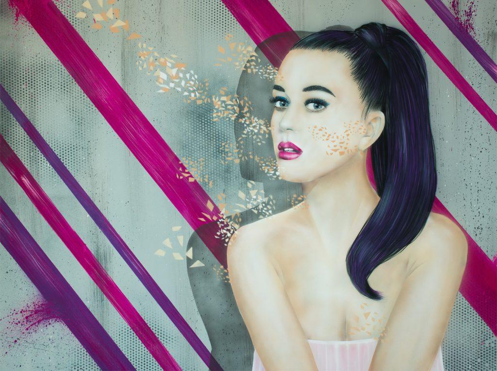 Graffiti Katy Perry Leinwand
