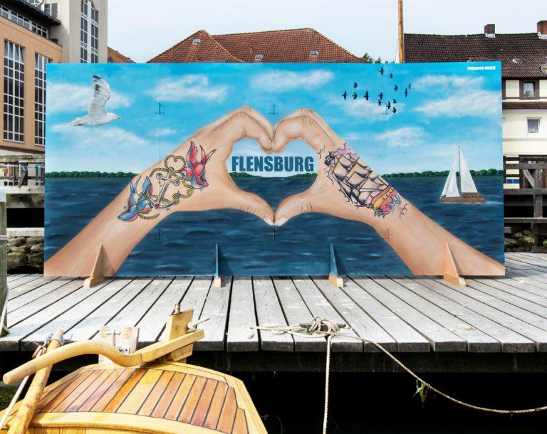 Kunst in Flensburg – Bühnenbild für Museumshafen