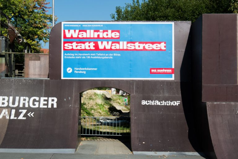 Mit Graffiti werben. Werbeaktion für Handwerkskammer